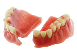 how to fix broken false teeth